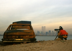 LVR shooting NY skyline C. 1985